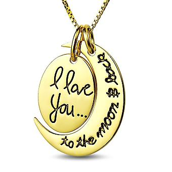 22k gold plated i love you to the moon & back necklace