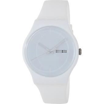 Swatch SUOW701 White Rubber 41MM Quartz Analog Orologio