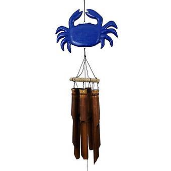 Carillon de vent de bambou de crabe bleu