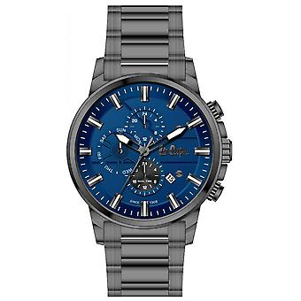 Shows Lee Cooper-LC06656-090 - chronograph steel grey Anthracite dial Blue Man