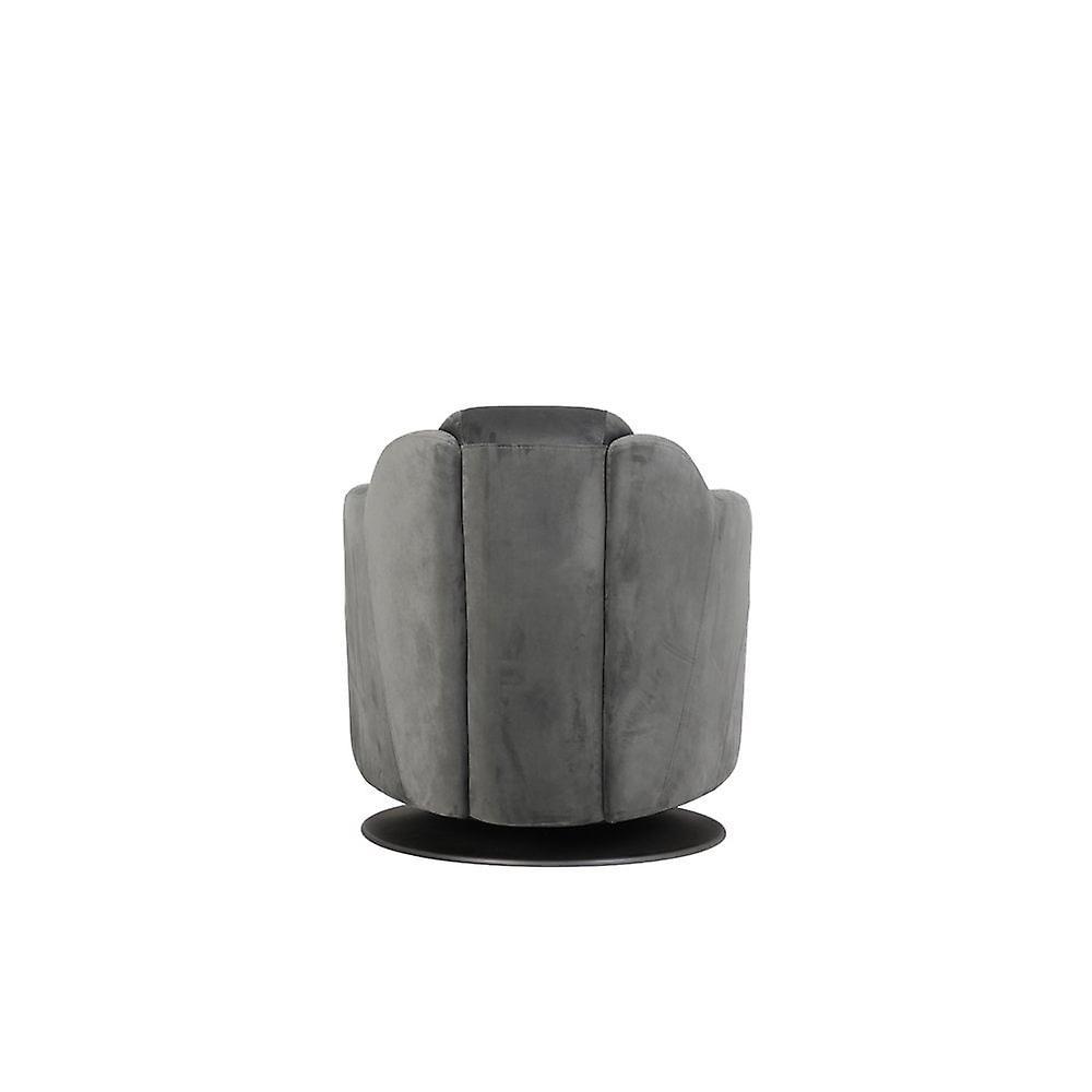 Chaise légère et vivante 70x83x70cm Zurich Velvet Grey