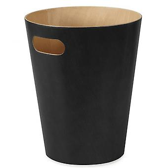 Umbra Woodrow Can Bin In Black
