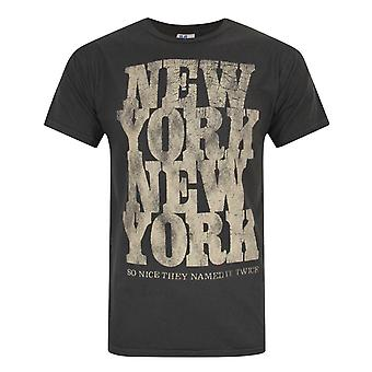Junk Food New York So Nice They Named It Twice Men's T-Shirt