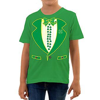 Reality glitch leprechaun suit kids t-shirt