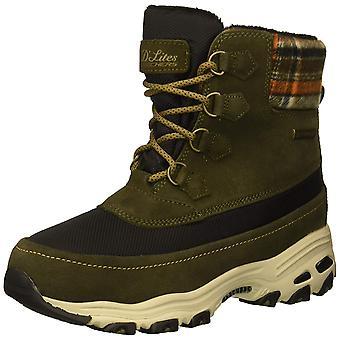 Skechers Womens D'Lites Stoff Mandel Toe Mid-Calf kaltes Wetter, Olive, Größe 8.0