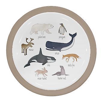 Sebra - melamine plate - arctic animals