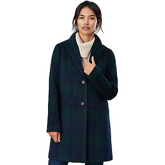 Joules Womens Costello Check Relaxed Fit Trench Coat