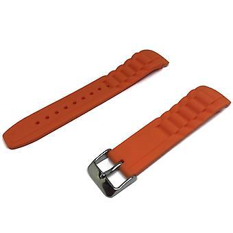 正宗的冰表带橙色,不锈钢扣尺寸为 17mm、20mm 和 22mm