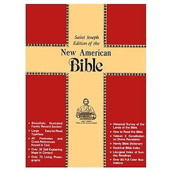 Saint Joseph Gift Bijbel, volledige grootte afdrukken LuxeUitgave: Nieuwe Amerikaanse Bijbel (NAB), bruin gebonden leer