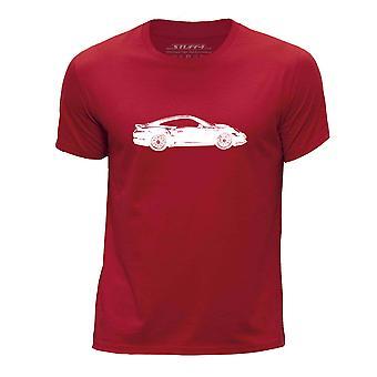 STUFF4 Boy's ronde hals T-T-shirt/Stencil auto Art/911 Turbo 14/rood