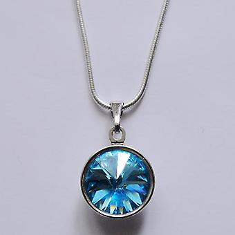 Anheng halskjede med lys blå krystall PMB 2.2