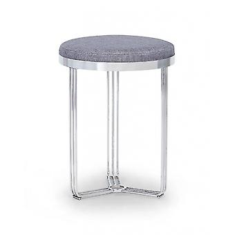 Gillmore Deco - Small Circular Side Table With Various Upholstered Tops And Frame Colour Options