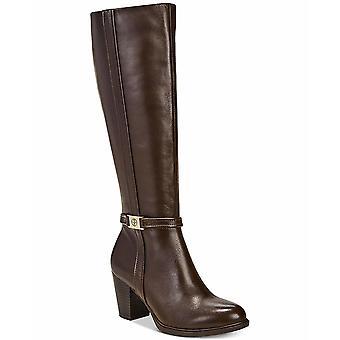 GIANI BERNINI-EDi Womens Raiven Leather Almond Toe Knee High Fashion Boots