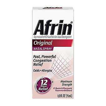 Afrin 12 hour relief nasal spray, maximum strength, original, 0.5 oz