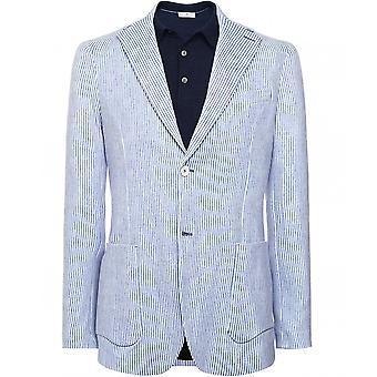 Circolo 1901 Stretch Cotton Fine Stripe Print Jacket