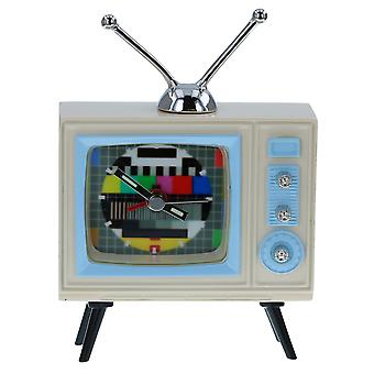 JD Novelty Miniature Mantlepiece Collectors Techno Retro TV - Television Clock 270773