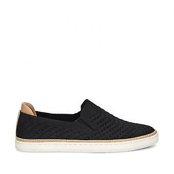 UGG Sammy Chevron Ladies Slip On Shoes Black
