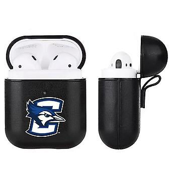 Creighton Blue Jays NCAA Fan Brander Zwart lederen AirPod Case