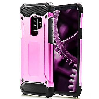 Shell for Samsung Galaxy S9 Plus Pink Armor Protection Case Hard