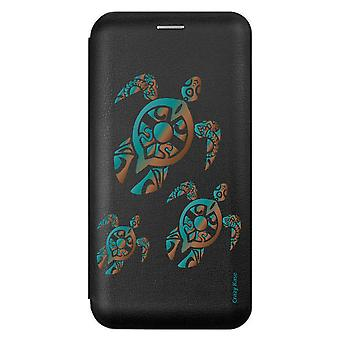 Case voor Samsung Galaxy A71 Black Turtle Family Patroon