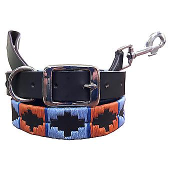 Carlos díaz collar de perro polo de cuero genuino y juego de plomo cdkupb307