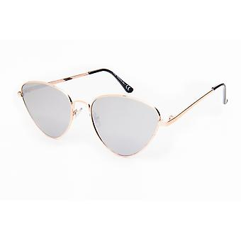 Sunglasses Women's Butterfly Mirror Glass silver/gold (PZ20-082)