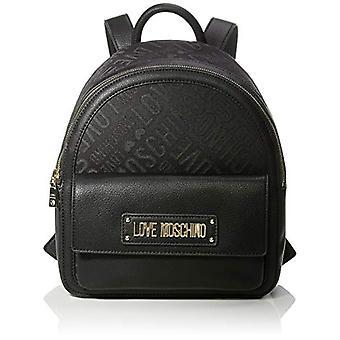 Love Moschino tas Jacquard E graan PU rugzak vrouwen (zwart) 31x12x30 cm (b x H x L)