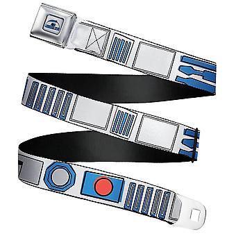 Star Wars R2-D2 Bounding Parts Webbing Seatbelt Buckle Belt