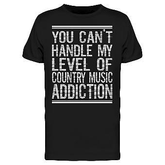 Country Music Addiction Tee Men's -Kuva Shutterstock