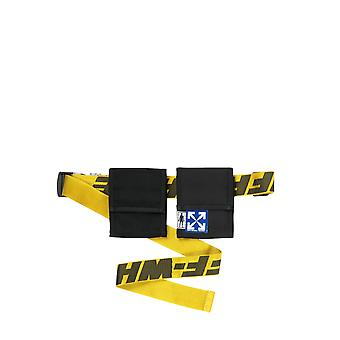 Off-white Omkn012s20h590411060 Men's Yellow/black Polyester Pouch