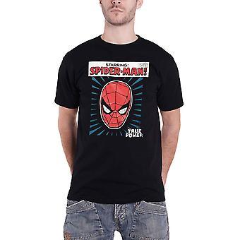 الرجل العنكبوت تي قميص السلطة الحقيقية بطولة سبايدرمان الرسمية الجديدة الأعجوبة الرجال الأسود