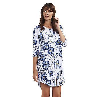 Rösch 1193141-11573 Women's New Romance Indigo Flowers Blue Floral Cotton Nightdress