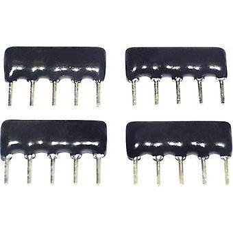 TANCAP SIP-A09-102G Cermet resistor 1 kΩ THT SIP 9 0.125 W 1 pc(s)
