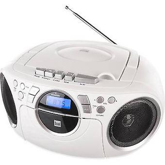 Dual P 70 Radio CD player FM AUX, CD, Tape White