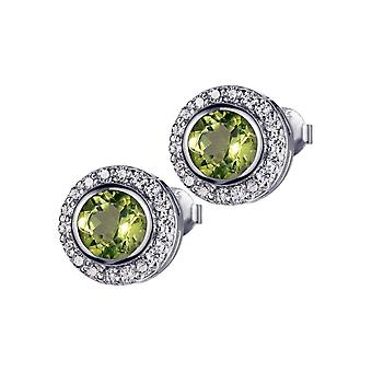 Jacques Lemans - Sterling Silver Studs with Peridot - SE-O105E