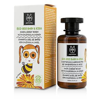 Apivita Eco-Bio Baby & crianças cabelo & lavagem do corpo com Calendula & mel 200ml/6,8 oz