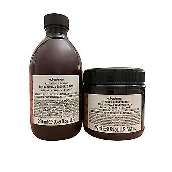 Davines Alchemic Shampoo Copper 9.46 OZ & Conditioner 8.84 OZ Set