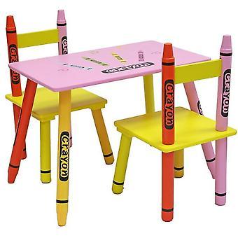 Kiddi Style Crayon Table And 2 Chair Set