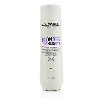 Dual senses blondes & highlights anti yellow shampoo (luminosity for blonde hair) 215432 250ml/8.4oz