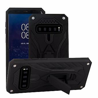 Pour Samsung Galaxy S10 Case, Armour Strong Shockproof Cover Kickstand, Black