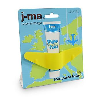 j-me Plane Aeroplane Childrens Toddler Toothpaste Holder Yellow Fun Great Gift