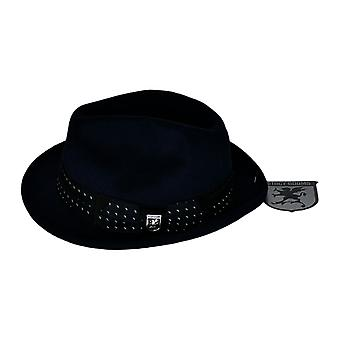 Stacy Adams UltraFelt Pinch Front Fedora Navy Blue Navy Blue Hat