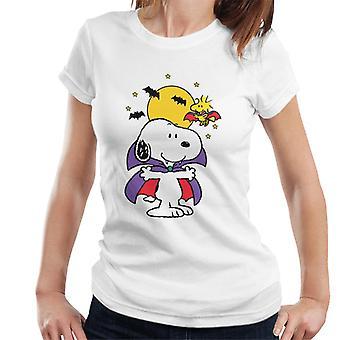 Pinda's Halloween snoopy vampier vrouwen ' s T-shirt