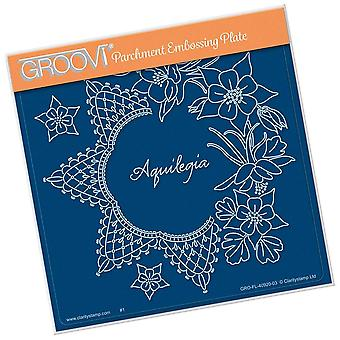 Groovi Linda's Aquilegia A5 Square Plate