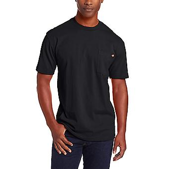 Dickie's Mænd's Short Sleeve Heavyweight Crew Neck Pocket T-shirt, Sort, X-La...