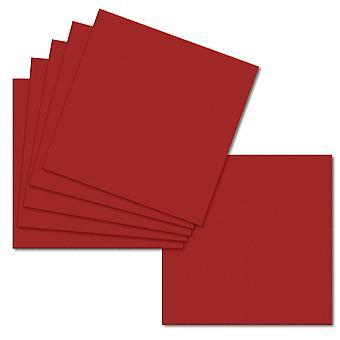 Chili röd. 123mm x 123mm. Liten Kvadrat. 235gsm Kort blad.