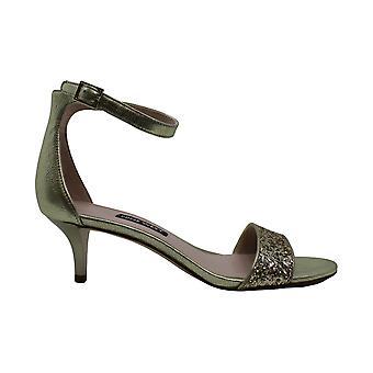 Yhdeksän West Naisten leisa nahka avoin toe erityinen tilaisuus nilkka hihna sandaalit