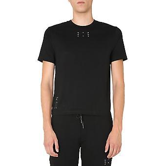 Mcq Door Alexander Mcqueen 624760rpr211000 Men's Zwart Katoen T-shirt