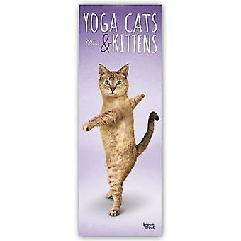 YOGA CATS KITTENS 2021 SLIMLINE BTUK by Browntrout