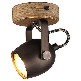 Brilliant Lampada Tool Parete Macchia Acciaio nero 1x PAR51, GU10, 35W, adatto per lampade a riflettore non incluse Gireta della testa